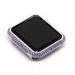 Diamond apple watch bezel case