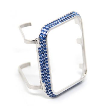 Sparkling Blue Crystal  Case  For Apple Watch