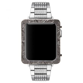 Black metal case for apple watch 42mm 38mm serie 3 2 1