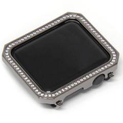 Nickel black Square design diamonds metal plating watch case