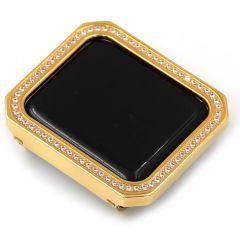 Gold unique square crystal alloy material Apple watch case