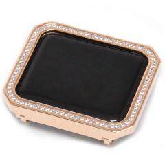 Rose gold special square diamonds alloy Apple watch case