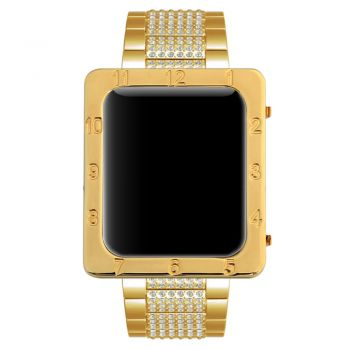Apple watch luxury exquisite number engraved Square bezel