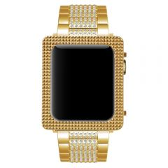 Gold plated exquisite square metal case for Apple Watch