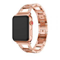 Apple wacth  diamond rose golden metal bracelet styled band