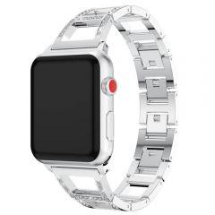 Diamonds bling sliver bracelet type metal apple watch band