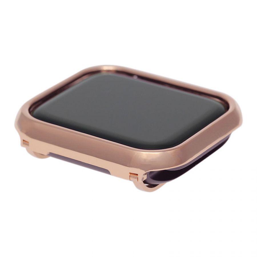 buy popular fc202 c7c67 Metal apple watch 4 40/44mm bezel bumper cover-rose gold