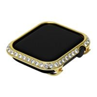 3.0mm Big crystal Diamond bezel case for Apple Watch 4 gold