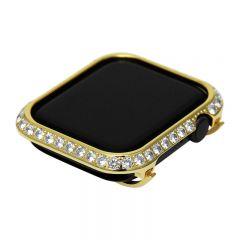 3.0mm Big crystal Diamond bezel case for Apple Watch 4 gold