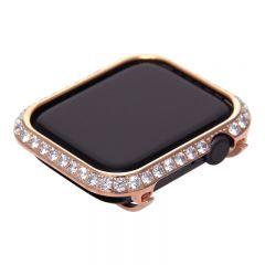 3.0mm Big Diamond bezel case for Apple Watch 4 rose gold
