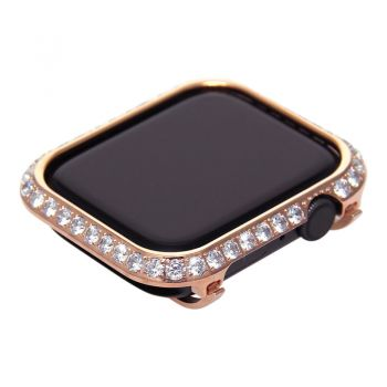 3.0mm Big Diamond bezel case for Apple Watch 4 rose gold