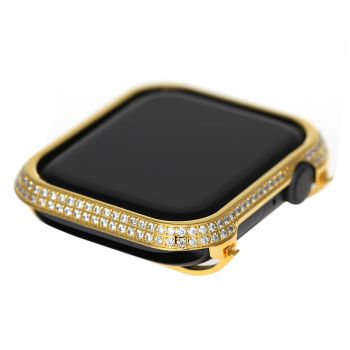 apple watch 4 diamond bezel case 40MM gold white crystals
