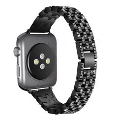 Black with shiny crystal metal wristband for apple watch series1 2 3