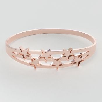 CallanCity New Design Bracelet For Women Fashionable Metal Cuff Bangle  Wristband Christmas Gift