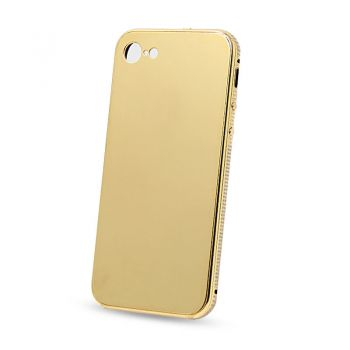 For iPhone 7 24kt 24ct gold plated phone case with crystal