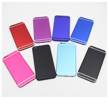 """For iPhone 6 plus 5.5"""" Custom matte color back housing cover colorful chassis middle frame replacement change free shipping"""