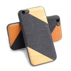 Wood Pattern Leather Back Protective Shell Cover Case For iPhone 6