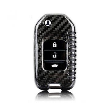 Carbon Fiber Remote Keyless Fob Cover Case Shell For Honda