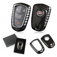 Carbon Fiber Keyless Fob Smart Key Case Cover For Cadillac