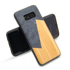 Fashion Wood Grain Leather Shell protection Case Cover For Samsung Galaxy S8