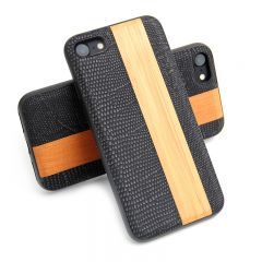 Luxury Wooden Leather Hard Wood Case Cover Shell For iPhone 7
