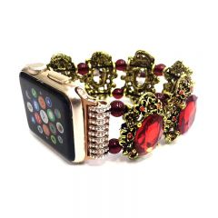 Deluxe Women's Jewelry Beaded Crystal Bracelet Strap Band for Apple Watch