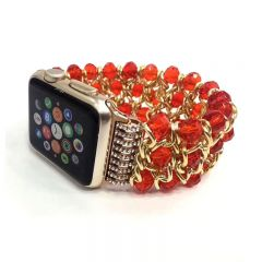 Fashion Jewelry Beaded Bracelet Strap Link Band for Apple Watch iwatch