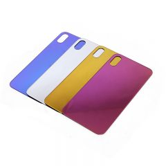 Fashion Mirror Color Shining Glass Cover Back for iPhone X