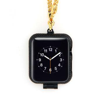 Luxury Necklace Black Diamond Apple I-Watch Bezel Case Cove