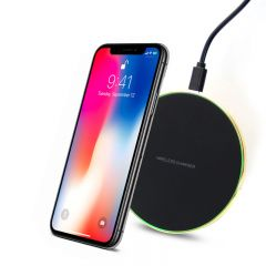 Diamond Inlaid Wireless Charger Qi Wireless Charging Pad Fast Charge For All Smartphone