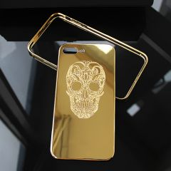 Luxury 24K gold leopard/Skull Cover Case design for iPhone 7 7Plus