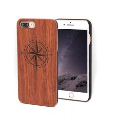 iPhone 8 Plus Timber Case Wooden Carved Shell Cover Custom