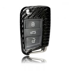 Real Carbon Fiber Remote Key Cover Case for Volkswagen VW Golf 7 Buttons