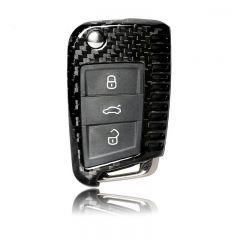 Real Carbon Fiber Remote Key Cover Case for Volkswagen VW Golf 7 Buttons