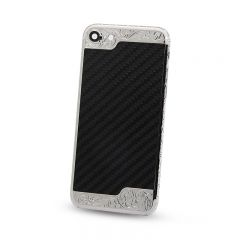 iPhone 7 deep engraving housing back cover with carbon fiber