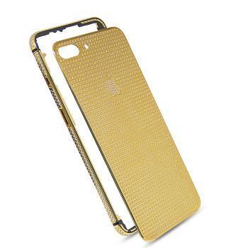 24k gold plated housing cover full diamond for iphone 8 Plus