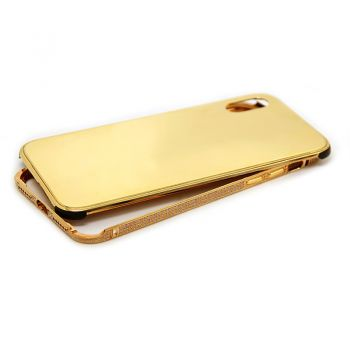iPhone x gold plated protective case diamond back cover