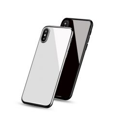 Apple iPhone X Mirror Effect Ceramic Glass Back Battery Cover Housing Replacement Part White Black
