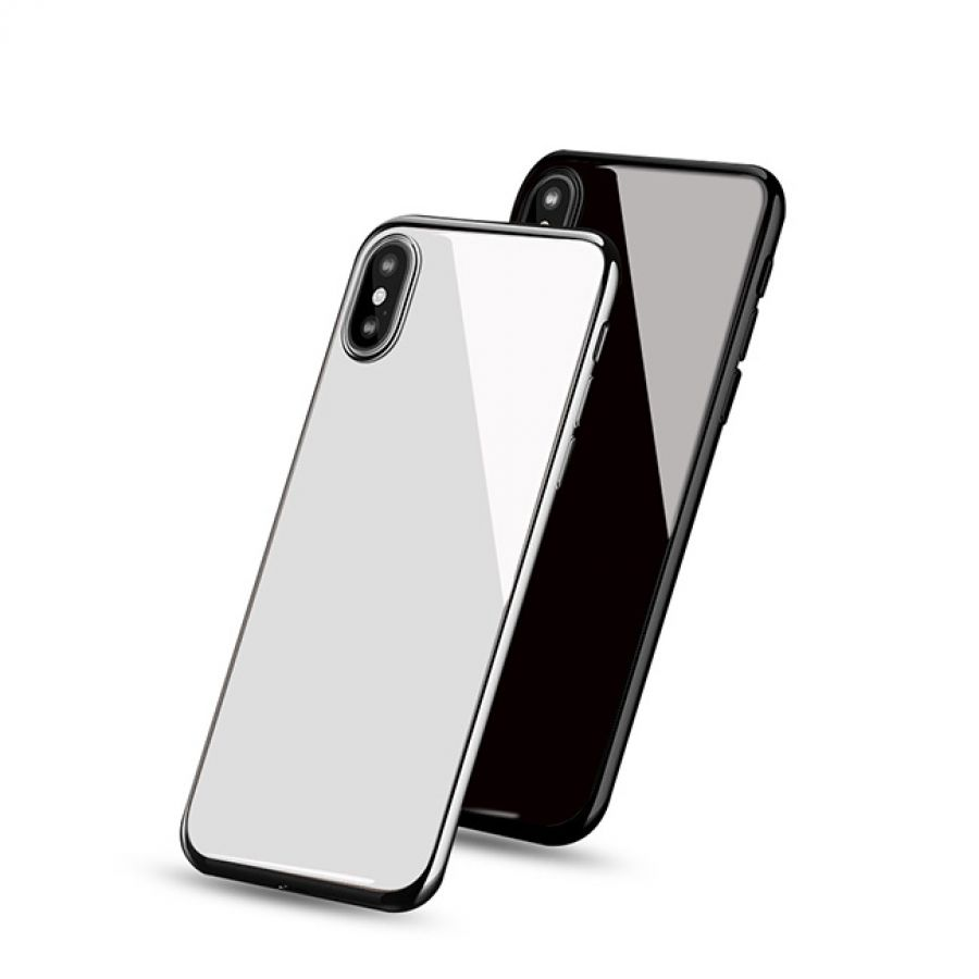 new arrival 3b74a a1976 iPhone X Back Cover Mirror Effect Ceramic Glass Housing Case