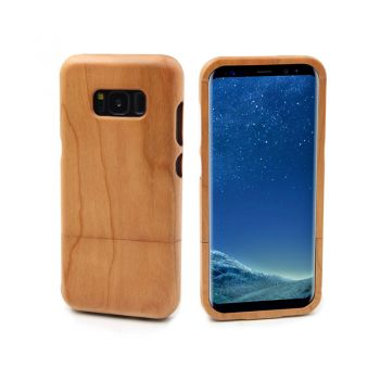 Samsung Galaxy S8 protective case shell & wooden phone cover