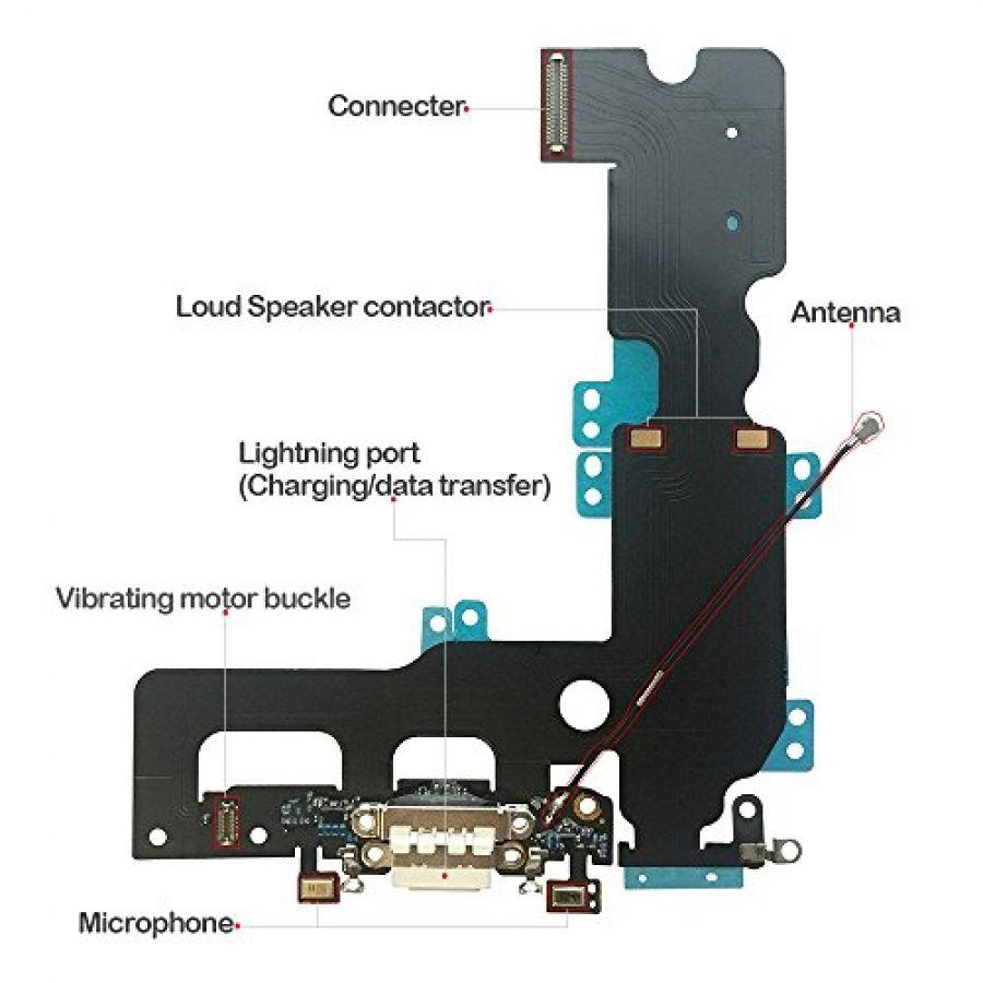 new product 9ec34 fe3d7 iPhone 7 Plus Headphone Jack port Dock Connector Flex Cable