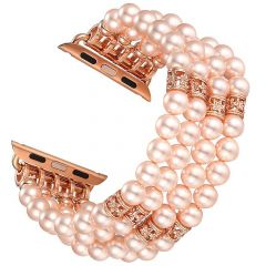 Handmade bracelet watch strap for Apple watch seres 1 2 3 pink