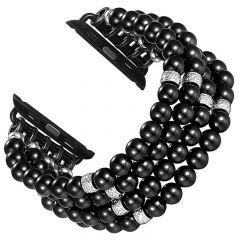 Handmade bracelet watch strap for Apple watch seres 1 2 3 black