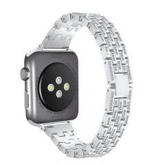 Stainless Steel Metal diamond Wristband For Apple watch platinum