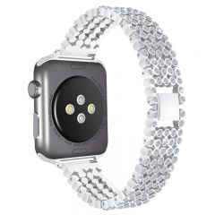Luxury Replace Bling Stainless Steel Watch Band For Apple watch silver