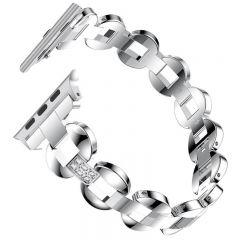 Bling Diamond Bracelet band for Apple watch series 1 2 3 platinum