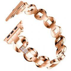 Bling Diamond Bracelet band for Apple watch series 1 2 3 rose
