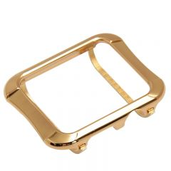 Plain metal screen protect case for Apple watch series 1 2 3 gold