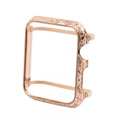 Aluminum Alloy Protective Frame Cover Case for Apple watch series 1 2 3 rose