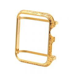 Aluminum Alloy Protective Frame Cover Case for Apple watch series 1 2 3 gold